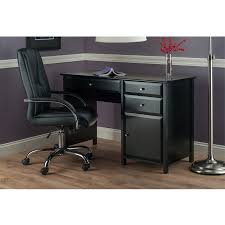 delta office writing desk shop winsome wood delta black writing desk at lowes com