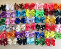 ribbon hair bow 4 inch hair bows etsy
