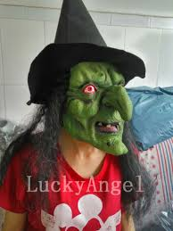 aliexpress com buy scary latex witch mask with black hair