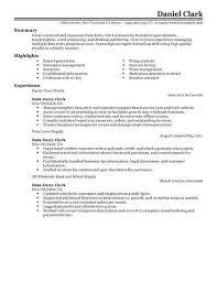 data entry resume best data entry clerk resume exle livecareer