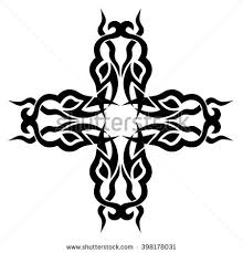 tribal cross tattoo designs vector sketch stock vector 400637704