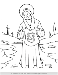saint veronica coloring page the catholic kid catholic saints