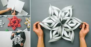 how to make 3d paper snowflake diy crafts handimania