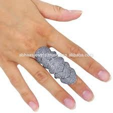 long gold rings images 14k gold full finger ring genuine diamond fashion 925 sterling jpg