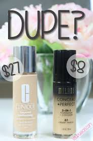 dupe milani conceal perfect vs clinique beyond perfecting