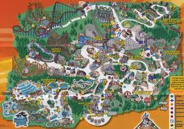 Harry Potter World Map by Theme Park Brochures Six Flags America Theme Park Brochures