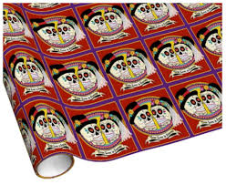skull wrapping paper sugar skull wedding wrapping paper