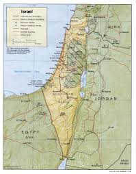 political map of israel israel maps perry castañeda map collection ut library
