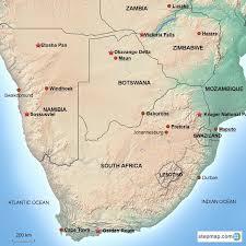 africa map kalahari desert southern africa