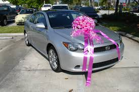 new car gift bow 2007 scion tc