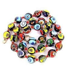 beaded necklace ebay images Murano glass necklace ebay JPG