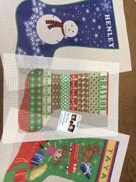 needlepoint christmas personalized needlepoint christmas needlepoint kits and