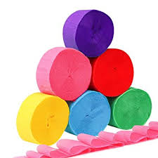 crepe paper streamers homder 6 colors crepe paper streamers for various
