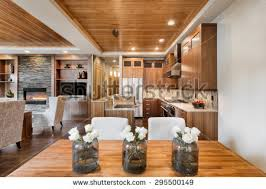 Kitchen And Living Room Open Floor Plans Wood Ceiling Stock Images Royalty Free Images U0026 Vectors