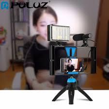 puluz dual handheld filmmaking recording vlogging video rig case