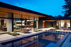 glass wall house custom design meets eichler inspired modern flair