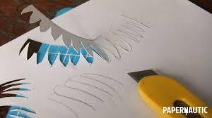 bird cameo u2013 paper sculpture sketch u2013 papernautic