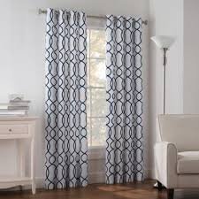 White And Blue Curtains Buy Blue Curtain Panels From Bed Bath Beyond