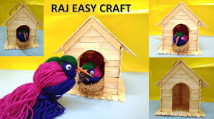 How To Make Home Interior Beautiful Beautiful How To Make A Birdhouse Out Of Popsicle Sticks 53 With