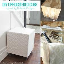 remodelaholic ballard designs inspired upholstered cube ottoman