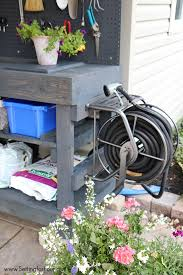 Patio Furniture Made Out Of Pallets by Diy Pallet Potting Bench Sneak Peek Setting For Four