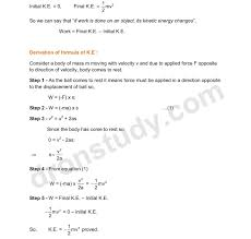 class9th class ix cbse chapter notes work and energy class 9