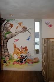 bambi wall mural pinteres bambi stampertje bloem muurschildering disney more