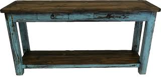 sofa table rustic antique turquoise console table turquoise sofatable