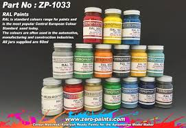 ral paints european standard colour range 60ml zp 1033 zero