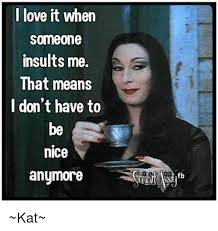 Meme Insults - i love it when someone insults me that means i don t have to be