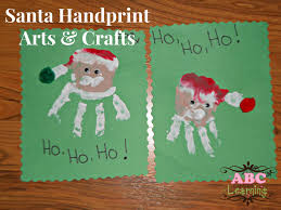 santa handprint arts crafts kids tierra este 80816