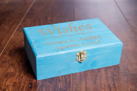 Bridal Shower Wish Wedding Wishes Box Guest Book With Wood Hearts Guestbook