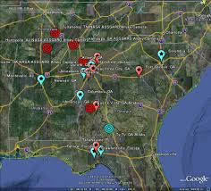 Alabama Florida Map by The Latest Worldwide Meteor Meteorite News Georgia South