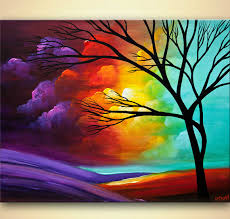 painting modern landscape tree painting 8028