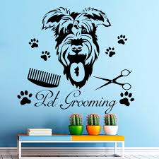 online get cheap dog wall murals aliexpress com alibaba group grooming with funny dog head pattern wall stickers home rooms special decor cute wall murals vinyl