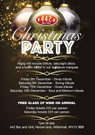 christmas party nights tickets 442 bar and grill willenhall