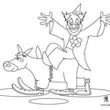 three clowns coloring pages hellokids com