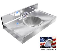 Made In Usa Kitchen Faucets by Ada Hand Sink Stainless Steel Elect Faucet 1 Station 36