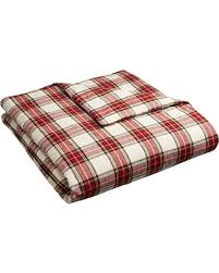 fall into this deal on pinzon 160 gram plaid flannel duvet cover