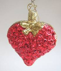 bouquet of love glass christmas ornament from inge glas of germany