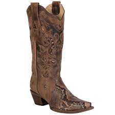 womens corral boots size 11 corral boots womens leather python inlay brown the