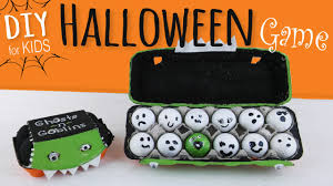 easy diy halloween party game for kids egg carton u0026 golf ball