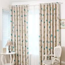 Teal Nursery Curtains Elephant Beige Kids Room Nursery Curtains