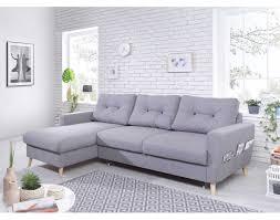 canape gris d angle oslo canapé d angle gauche convertible gris clair au design scandinave