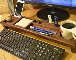 Wood Desk Organizer Wood Desk Organizer Etsy