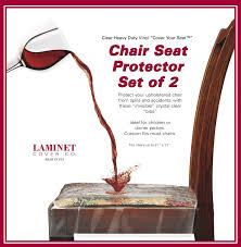 amazon com laminet vinyl chair protectors clear 26x253 4 inch