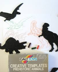vintage dinosaur stamps galt toys boxed set 8 prehistoric