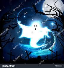 vector illustration concept halloween ghost graveyard stock vector