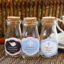 communion favor ideas personalized religious vintage milk favor jars by beau coup