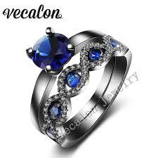 black gold sapphire engagement rings wedding rings vintage wedding bands for vintage sapphire